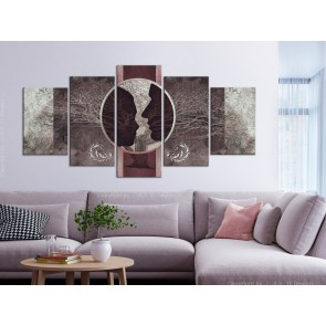 Quadro - She and He (5 Parts) Wide Brown