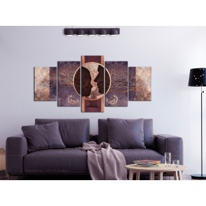 Quadro - She and He (5 Parts) Wide Violet