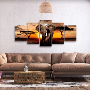 Quadro - Wandering Elephant (5 Parts) Wide