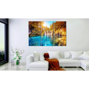 Quadro - Waterfalls of Sunny Forest