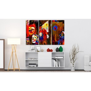 Quadro dipinto - Abstract Carnival