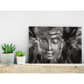 Quadro fai da te - Buddha in Black and White
