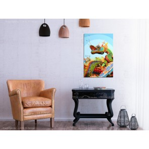 Quadro fai da te - Colourful Dragon