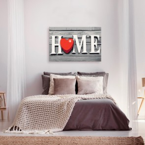 Quadro fai da te - Home with Red Heart