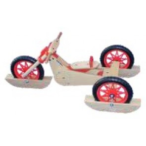 Esempio trike bike con pattini da neve