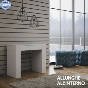 Consolle allungabile design Bianco frassino