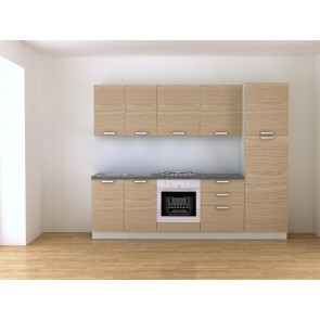 Cucina moderna da 270 cm con elettrodomestici