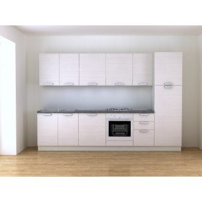 Cucina bianca 315 cm moderna completa di elettrodomestici