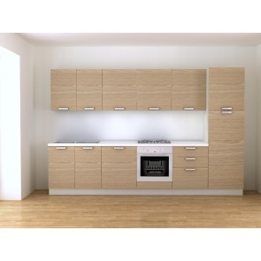 Cucina moderna 330 cm lineare con elettrodomestici inclusi