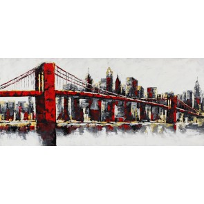 Quadro moderno New York City skyline con ponte di Brooklyn